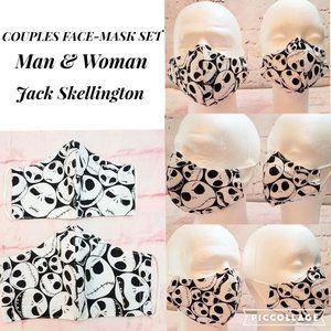 Bundle 2 Jack Skellington FACE MASKS - Couple Set